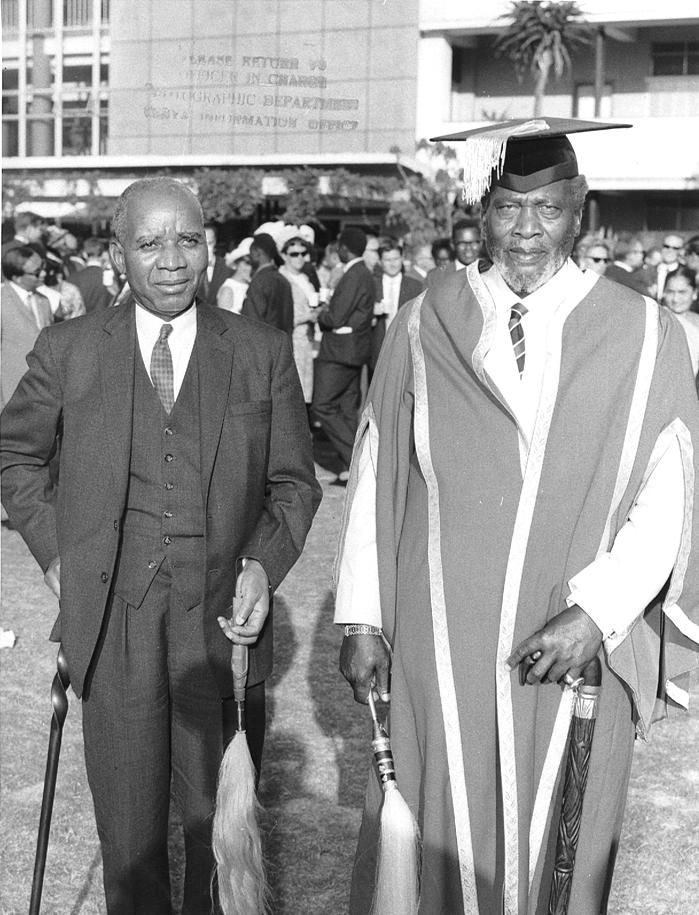 Jomo Kenyatta & Kamuzu Banda visiting UON (5-Oct-1967)