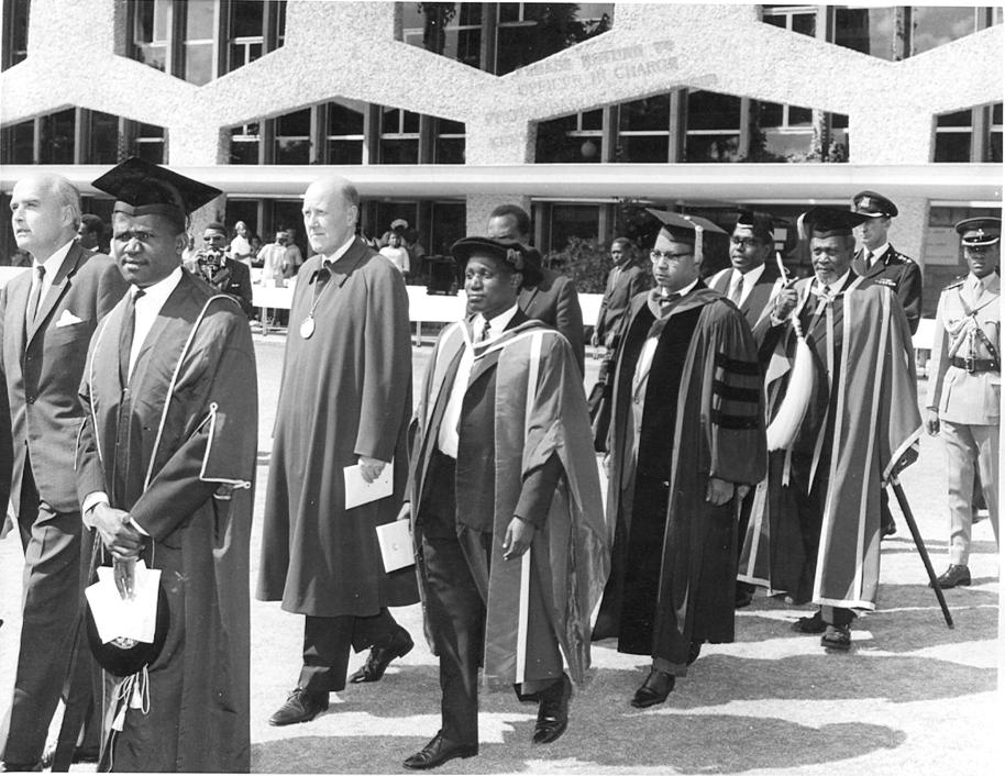 President Jomo Kenyatta in a academic procession at UON (10-Nov-1966)