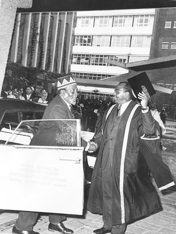 President Jomo Kenyatta arrives at UON, formerly Royal Technical College (15-Jan-1964)