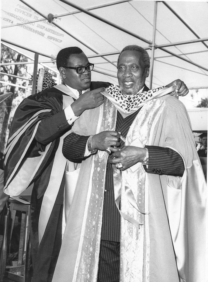 President Jomo Kenyatta at a graduation ceremony at UON (11-Dec-1970)